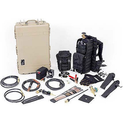 BROCO PC/TACMOD1 Backpacked Tactical Torch Set with 45 cu ft. Aluminum Cylinder